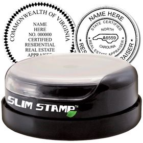 Real Estate Appraiser Slim Pre Inked Rubber Stamp of Seal