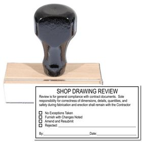 Regular Shop Drawing Review Stamp