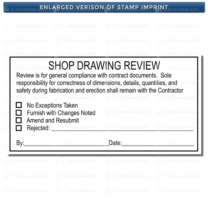 Regular Shop Drawing Review Stamp - Submittal Review Stamps