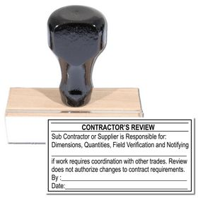 Regular Contractor's Review Stamp