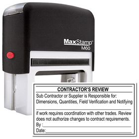 Self Inking Contractor's Review Stamp