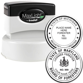 Forester MaxLight Pre Inked Rubber Stamp of Seal