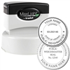 Public Weighmaster MaxLight Pre Inked Rubber Stamp of Seal