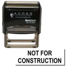 Self Inking Not For Construction Stamp