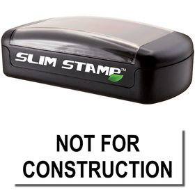 Slim Pre-Inked Not For Construction Stamp