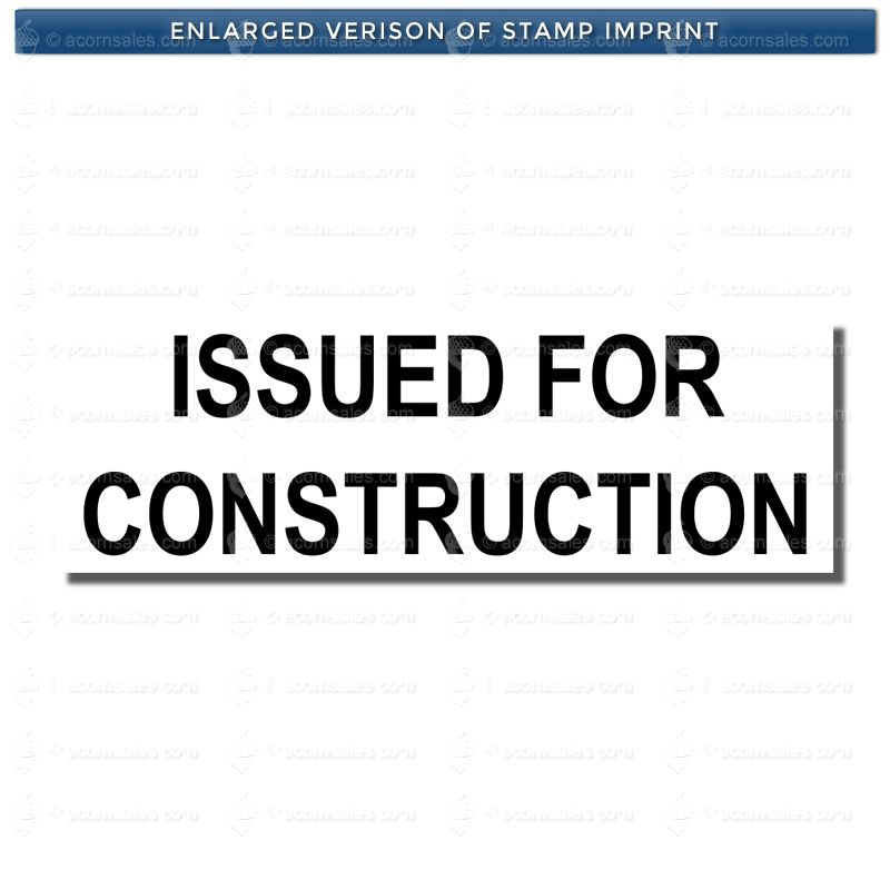 issued for construction stamp - customized rubber stamps