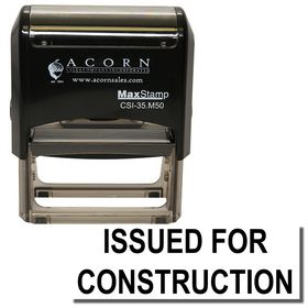 Self Inking Issued for Construction Stamp