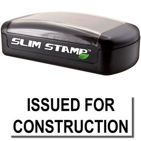 Slim Pre-Inked Issued for Construction Stamp