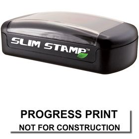 Slim Pre-Inked Progress Print Stamp