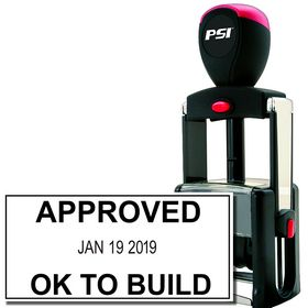 Self Inking Approved Date Stamp