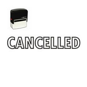 Self-Inking Outline Cancelled Stamp