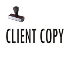 Client Copy Business Rubber Stamp