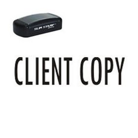 Slim Pre-Inked Client Copy Office Stamp