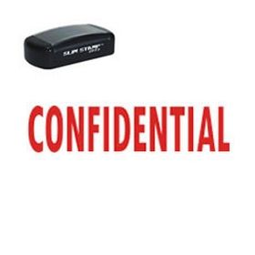 Slim Pre-Inked Confidential Stamp