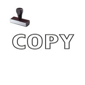 Copy Rubber Stamp with Outline Text