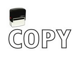 Outline Self-Inking Copy Stamp
