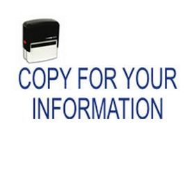 Self-Inking Copy For Your Information Stamp