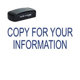 Slim Pre-Inked Copy For Your Information Stamp