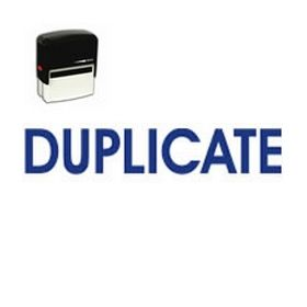 Self-Inking Duplicate Stamp