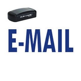 Slim Pre-Inked E-Mail Business Stamp