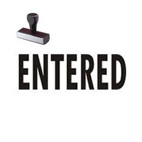 Entered Business Rubber Stamp