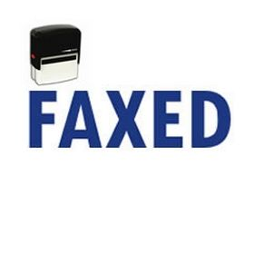 Self-Inking Faxed Stamp