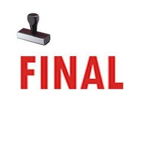 Final Message Rubber Stamp