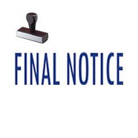 Final Notice Mailing Rubber Stamp