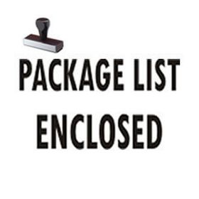 Package List Enclosed Shipping Rubber Stamp
