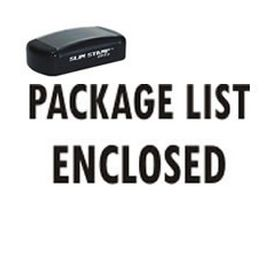 Slim Pre-Inked Package List Enclosed Postal Stamp
