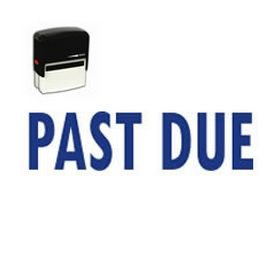 Self-Inking Past Due Stamp