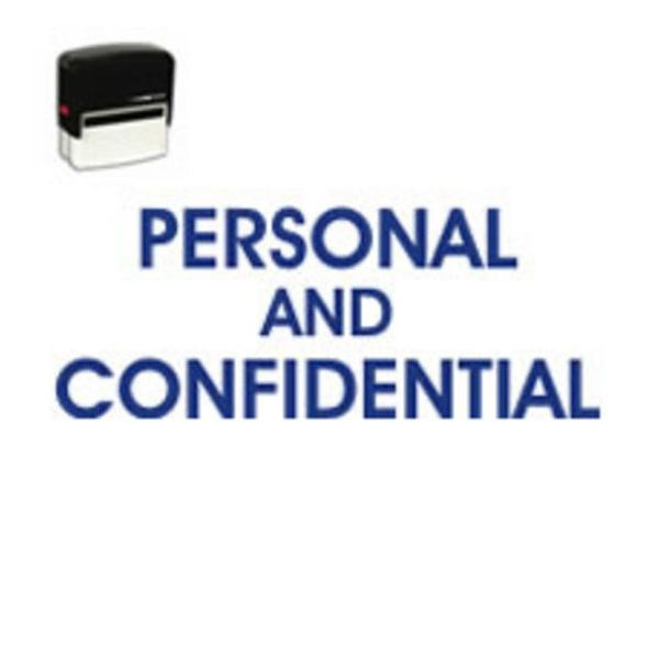 Self Inking Personal Confidential Title Stamp