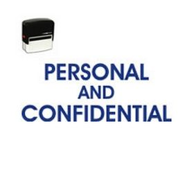 Self-Inking Personal Confidential Title Stamp