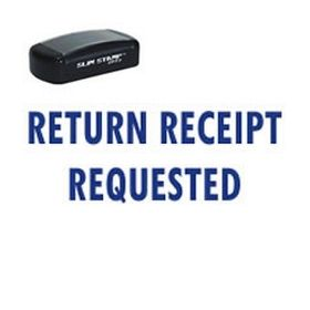 Slim Pre-Inked Return Receipt Requested Stamp