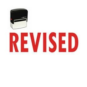 Self-Inking Bold Revised Stamp