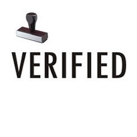 Verified Office Rubber Stamp