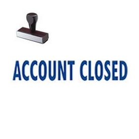 Account Closed Rubber Stamp