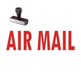 Air Mail Shipping Rubber Stamp