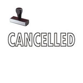 Outline Cancelled Rubber Stamp