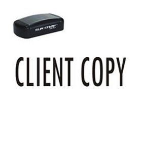 Pre-Inked Client Copy Stamp