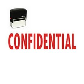 Self-Inking Confidential Stamp