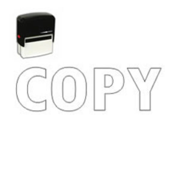 Self Inking Outline Copy Stamp