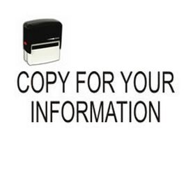 Self-Inking Copy For Your Information Office Stamp