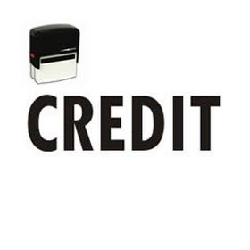 Self-Inking Credit Stamp