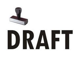 Draft Rubber Stamp