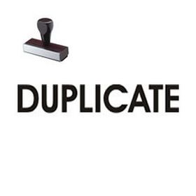 Duplicate Office Rubber Stamp