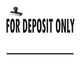For Deposit Only Rubber Stamp