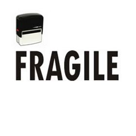 Self-Inking Fragile Stamp for Mailing