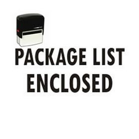 Self-Inking Package List Enclosed Stamp