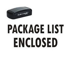 Pre-Inked Package List Enclosed Stamp